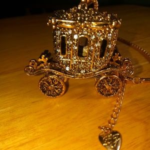 Betsey Johnson carriage necklace